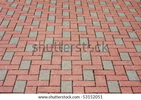 Brick pavement in a city - stock photo