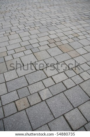 Brick pavement in the city - stock photo