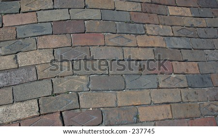 Brick pavers - stock photo