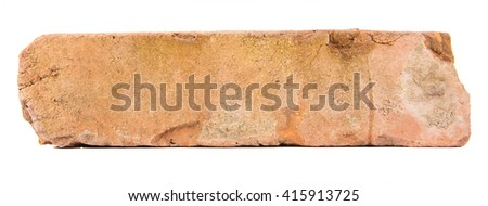 Brick red clay isolated on white background