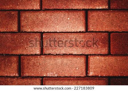 Brick red texture - stock photo