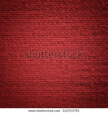 Brick red wall as christmas background - stock photo