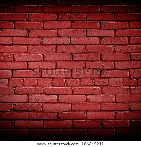 Brick red wall as christmas background