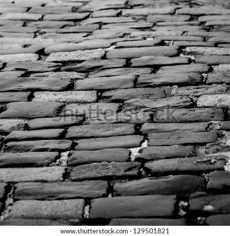 brick road 2 - stock photo