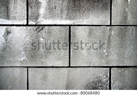 Brick Rock wall - stock photo