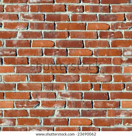 Brick seamless wall. - stock photo