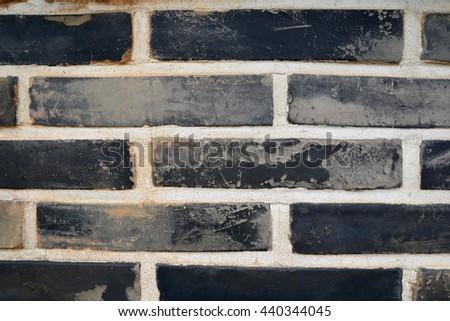 Brick textured wall background image - stock photo