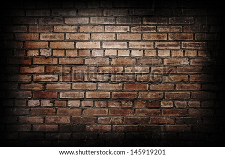 Brick wall. - stock photo