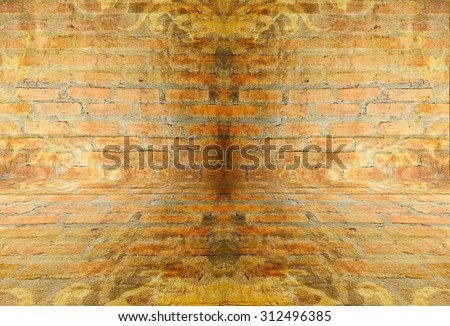 brick wall and brick floor texture  - stock photo