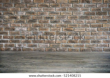 Brick wall and flor