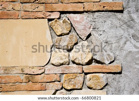 brick wall and stone