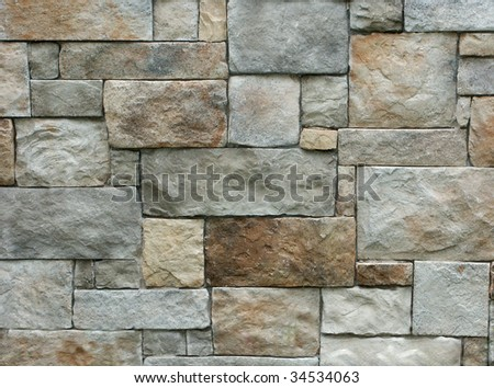 Brick wall background - stock photo