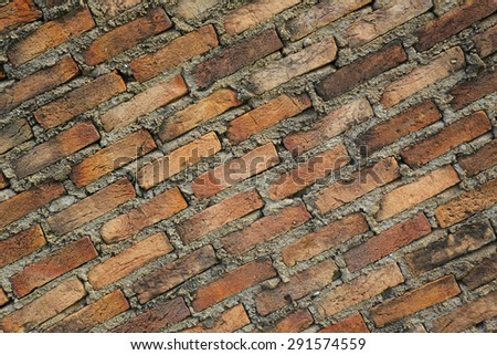 Brick wall . Background of brick wall texture