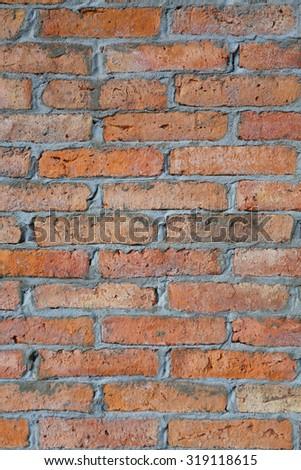 Brick wall . Background of brick wall texture - stock photo