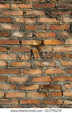 Brick wall . Background of brick wall texture - stock photo