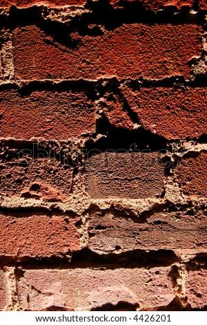 Brick Wall Background Texture (Monster Lighting) - stock photo