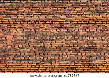 Brick wall background urban city building scene - stock photo