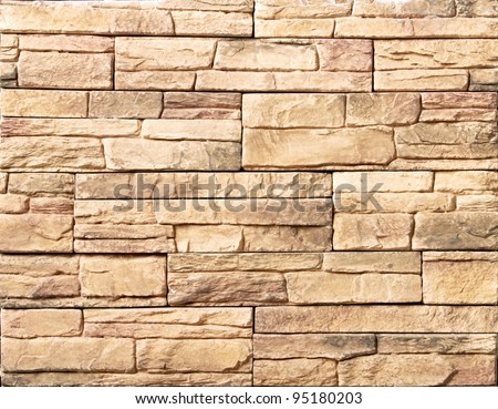 Brick wall design as mortar background texture - stock photo