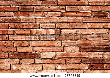 brick wall for background - stock photo