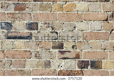 Brick wall for use as background