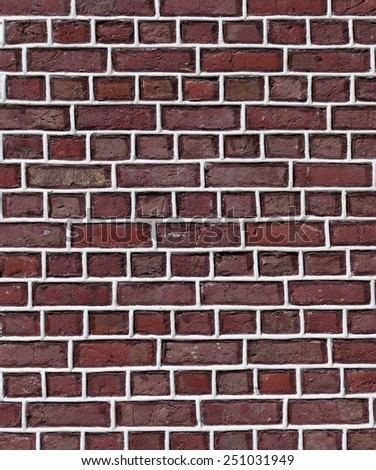 Brick wall from old church with white mortar - stock photo