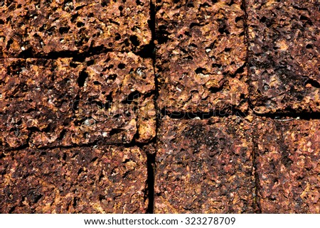 brick wall, ground, wallpaper, background