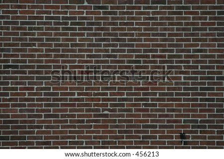 Brick wall, historic district, Savannah, Georgia - stock photo