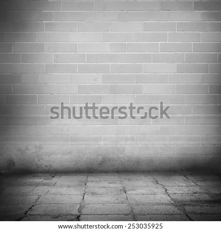 brick wall interior background, black and white background