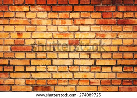 Brick wall, life in the city, construction - stock photo