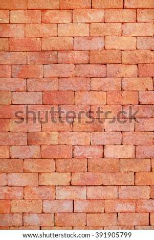 Brick wall made of traditional Mon style