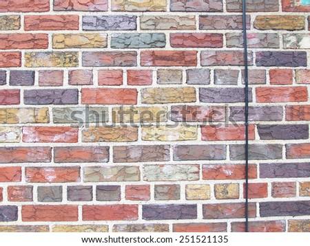brick wall multicoloured texture  - stock photo