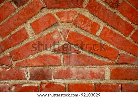 Brick wall of an old building - stock photo