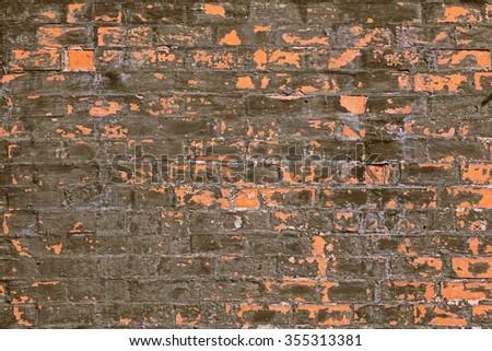 Brick wall. Old brick wall texture background - stock photo