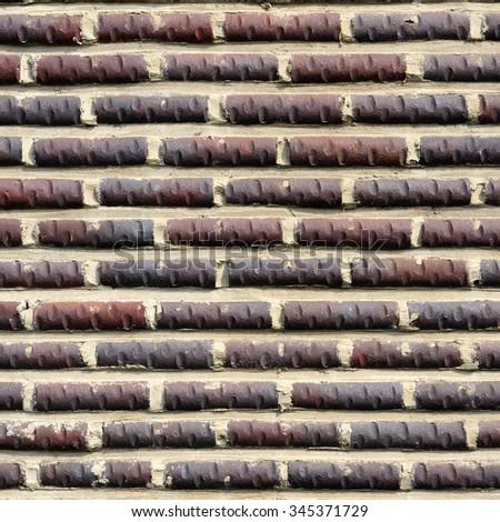 Brick wall pattern : Korea style - stock photo