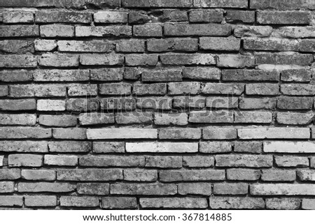 Brick wall pattern texture background in landscape architecture. - stock photo