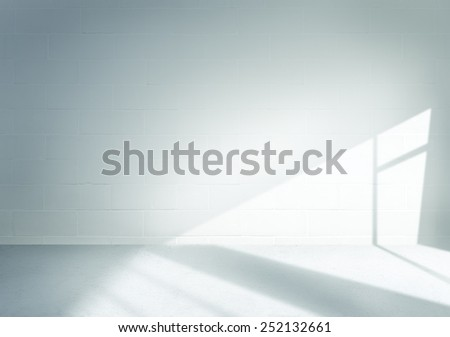 Brick Wall Room Architecture Indoor Concept - stock photo