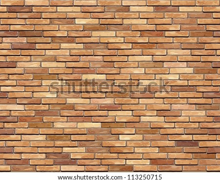 Brick wall seamless background (jpg). Vector version also available - texture pattern for continuous replicate. - stock photo