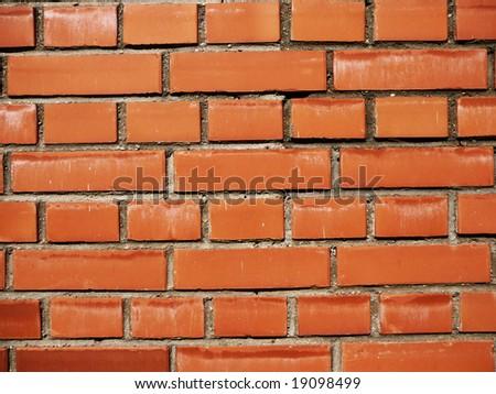 brick wall texture color terracotta - stock photo
