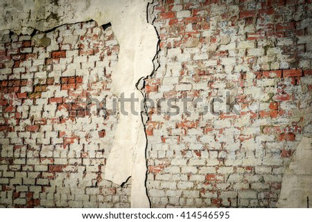 brick wall textured background with cement