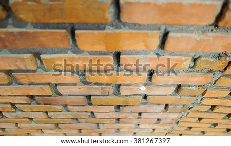Brick Wall Top View