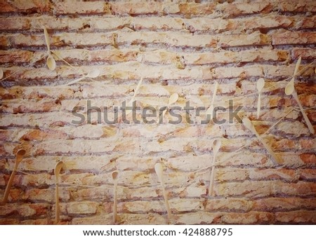 brick wall Vintage style  for background.