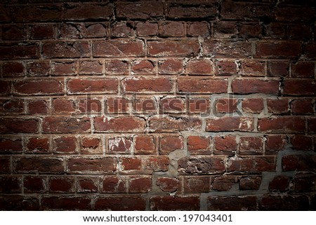 brick wall with vignette effect