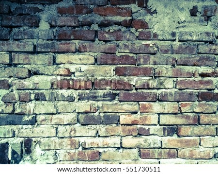 Brick walls plastered white old rough, rough concrete surface texture background