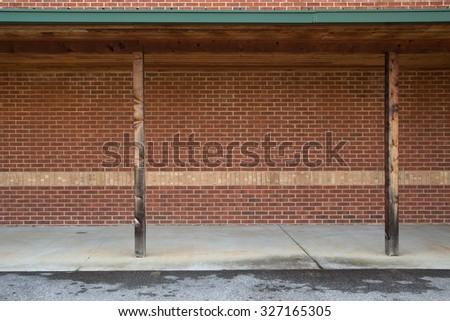 brick warehouse background - stock photo