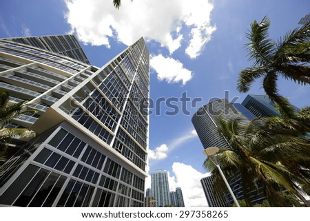Brickell Miami skyscrapers - stock photo