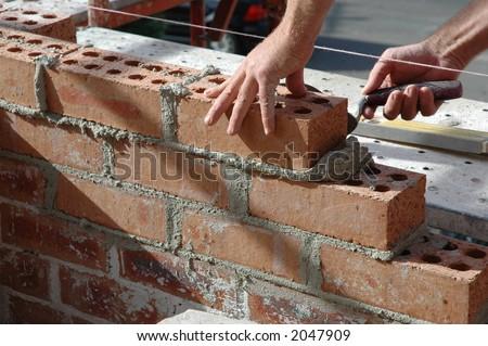 bricklayer - stock photo