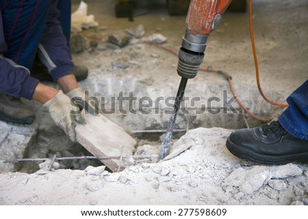 bricklayer - stock photo
