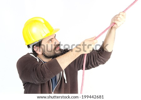 bricklayer, work - stock photo