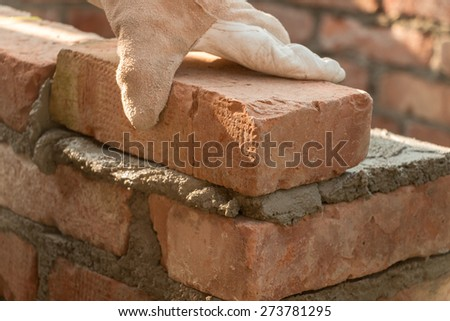 Bricklaying - stock photo