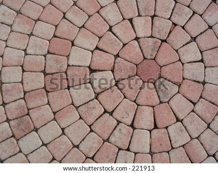 Bricks in concentric circles